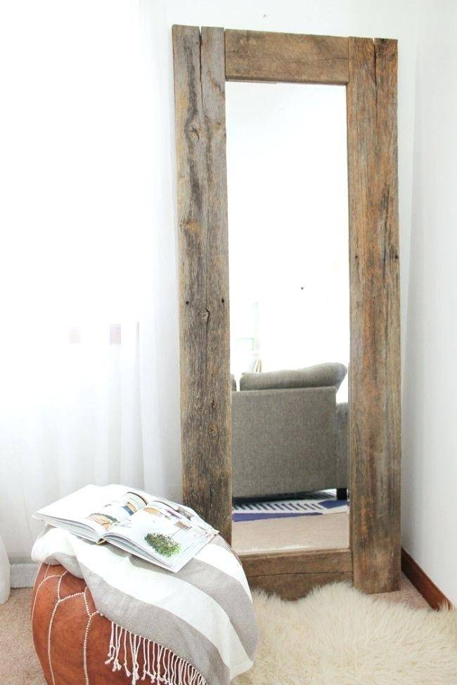 Large Wooden Framed Wall Mirrors Round Wood Framed Wall Mirror In Beech Wood Framed Mirrors (#10 of 15)