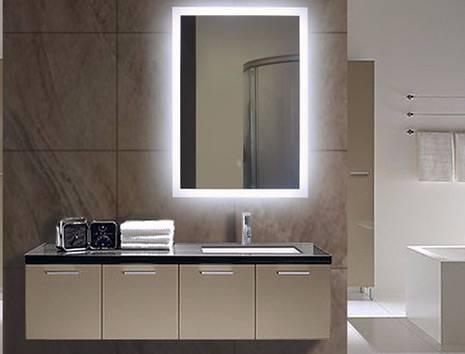 Latest Lighted Bathroom Mirror Illuminated Bathroom Mirror Lighted Throughout Lighted Wall Mirrors (#7 of 15)