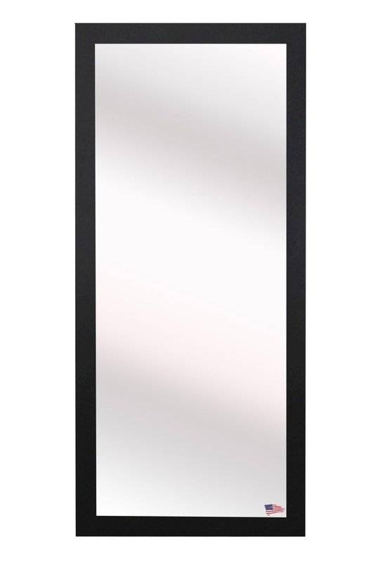 Latitude Run Rectangle Black Full Body Wall Mirror & Reviews | Wayfair Throughout Black Wall Mirrors (View 2 of 15)