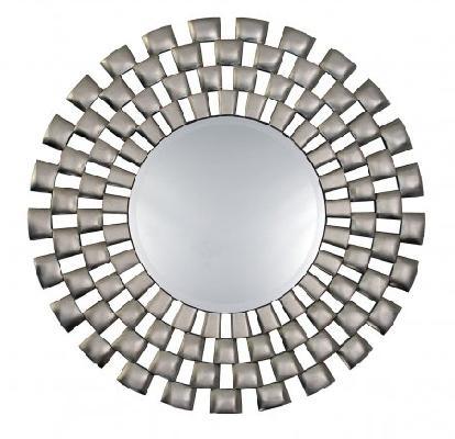 Laviana Silver Round Wall Mirror,modern,contemporary Round Wall Regarding Modern Round Wall Mirrors (#9 of 15)