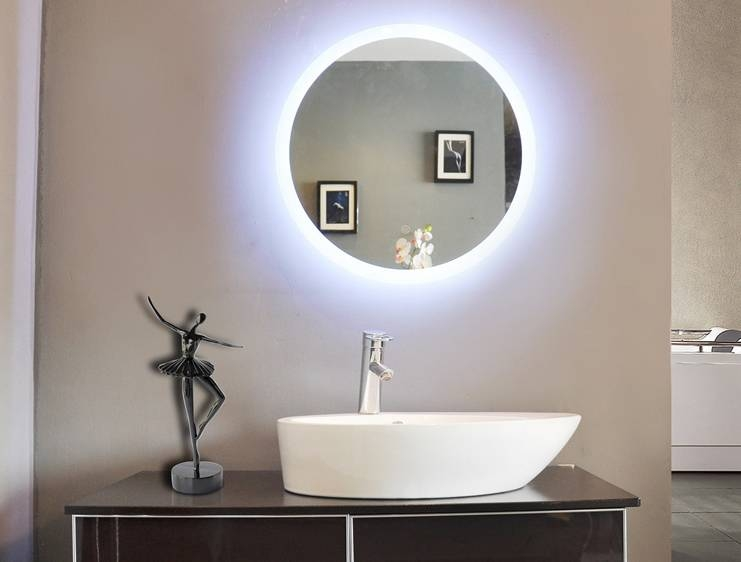 Popular Photo of Illuminated Wall Mirrors For Bathroom