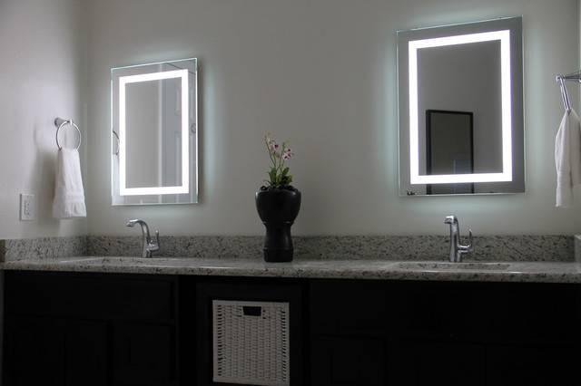 Led Illuminated Bathroom Mirrors – Tusstk Within Led Illuminated Bathroom Mirrors (#14 of 15)
