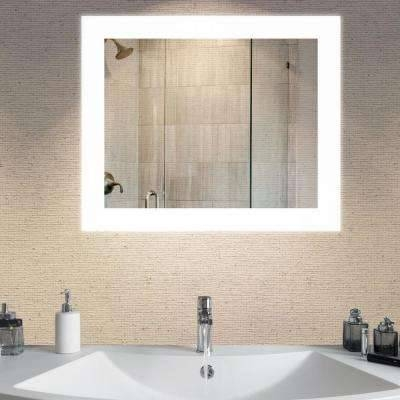 Led Light – Bathroom Mirrors – Bath – The Home Depot Intended For Bathroom Mirrors With Led Lights (#14 of 15)