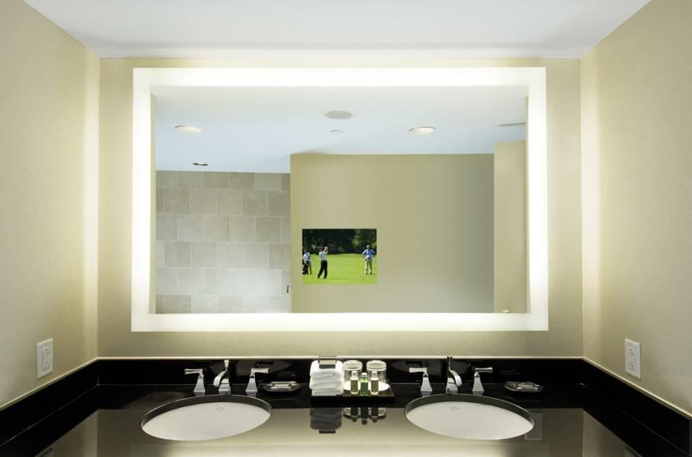 Led Lighted Bathroom Wall Mirror : Impressive Lighted Bathroom In Lighted Bathroom Wall Mirrors (View 8 of 15)