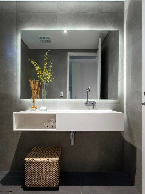 Led Strip Bathroom Makeup Mirror | Houzz Pertaining To Led Strip Lights For Bathroom Mirrors (#13 of 15)