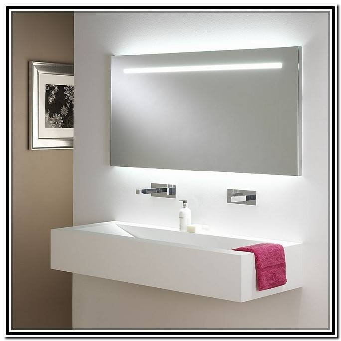 Lighted Bathroom Wall Mirror | Old Mobile With Lighted Vanity Wall Mirrors (#4 of 15)
