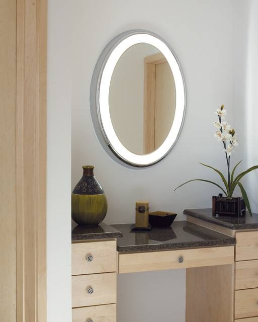 Lighted Magnifying Mirrors | Iron Blog With Lighted Vanity Mirrors For Bathroom (#6 of 15)