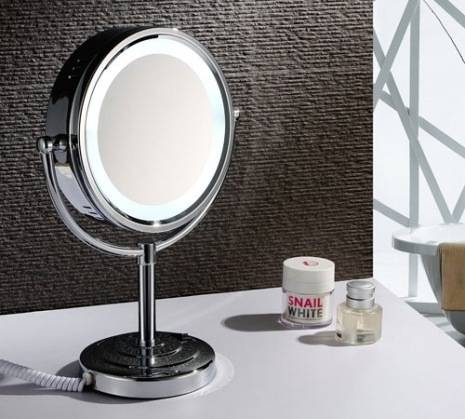 Lighted Tabletop Vanity Mirror Hollywood Style For Winning For Magnified Vanity Mirrors (#11 of 15)