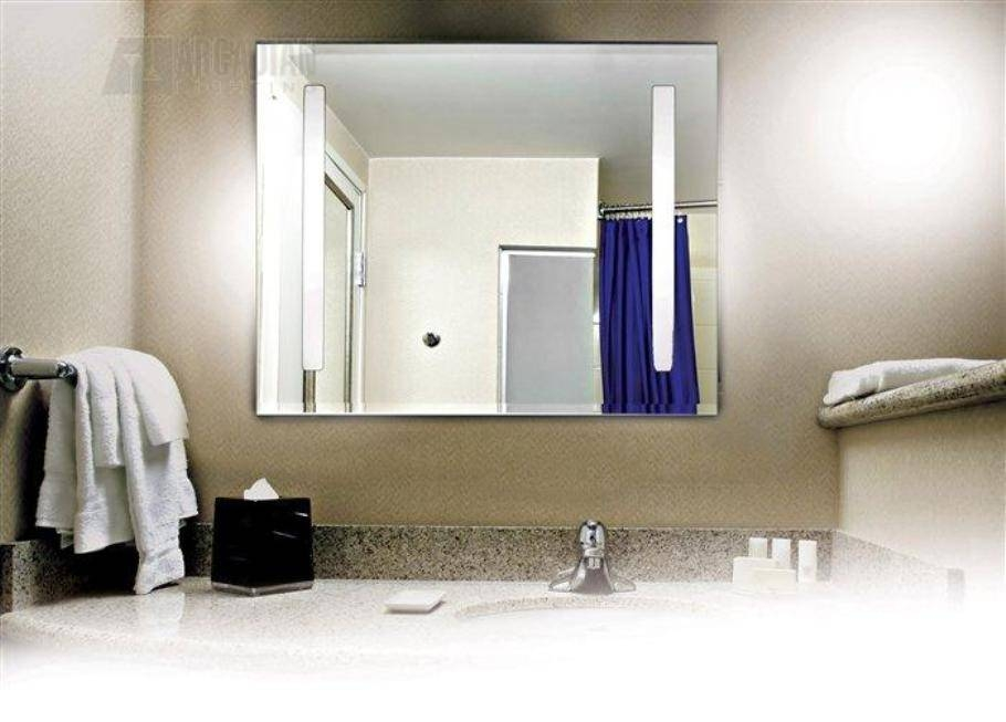 Lighted Vanity Wall Mirror Reviews For Wall Mounted Lighted Makeup Mirrors (View 10 of 15)