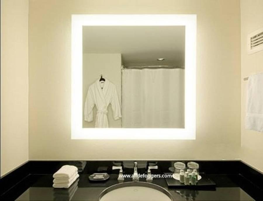 Lighted Wall Mirror For Bathroom Inside Backlit Bathroom Wall Mirrors (#12 of 15)