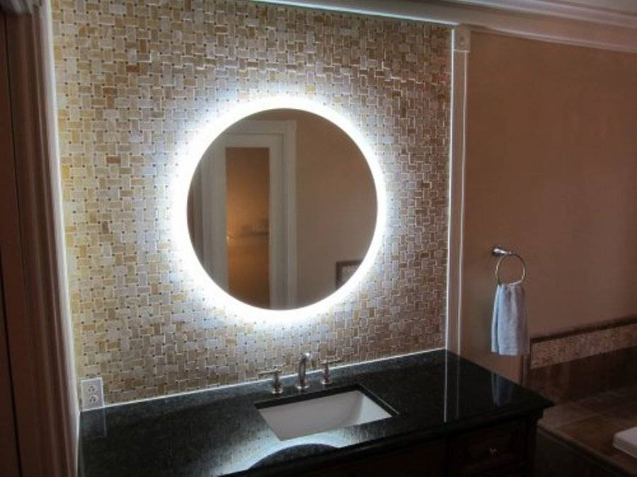 Lighted Wall Mirror For Bathroom Throughout Backlit Bathroom Wall Mirrors (#13 of 15)