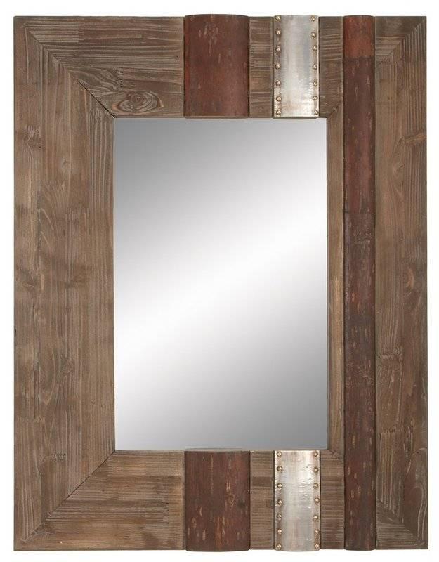 Loon Peak Salida Rustic Wall Mirror & Reviews | Wayfair Within Rustic Wall Mirrors (View 11 of 15)