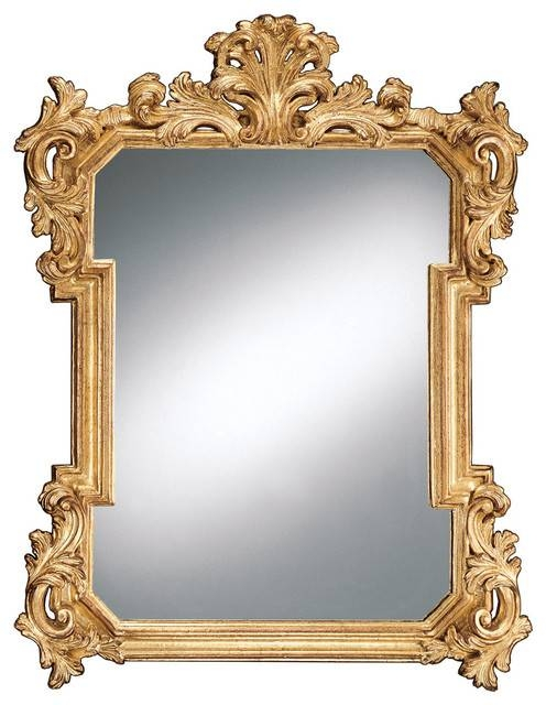 Louis Xiv Decorative Wall Mirror – Victorian – Wall Mirrors – Inside Victorian Wall Mirrors (#10 of 15)