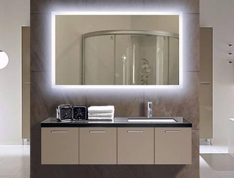 Lovely Idea Illuminated Bathroom Wall Mirror Lighted Decor For Lighted Bathroom Wall Mirrors (View 13 of 15)