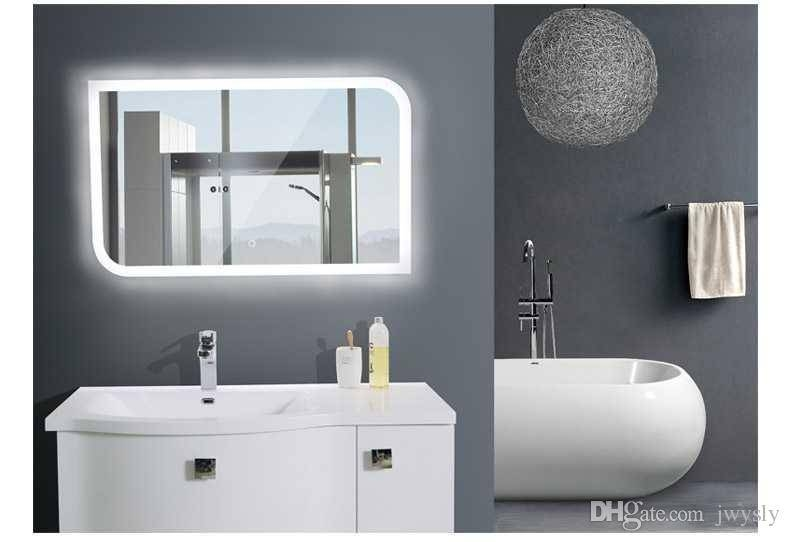 Luxury European Style Bathroom Mirror With Light Led Square Toilet With Bathroom Wall Mirrors With Lights (#12 of 15)