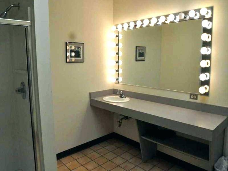 Magnifying Wall Mirror With Light Mounted Vanity Shelves Plain Pertaining To Wall Mirrors With Light (#8 of 15)