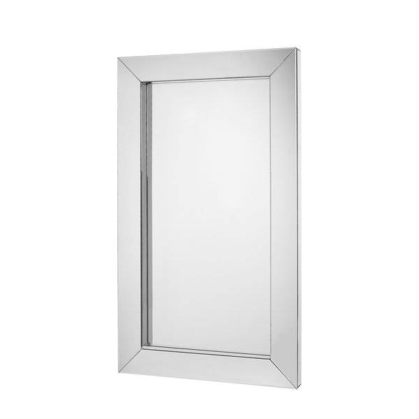 Majestic Mirror Large Modern Rectangular Mirrored Wood Frame Intended For Large Rectangular Wall Mirrors (#14 of 15)