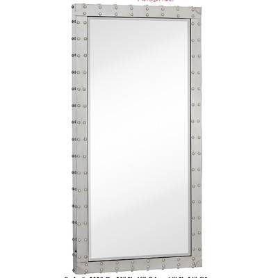 Majestic Mirror Modern Stainless Steel Rectangular Beveled Glass Intended For Stainless Steel Wall Mirrors (View 6 of 15)
