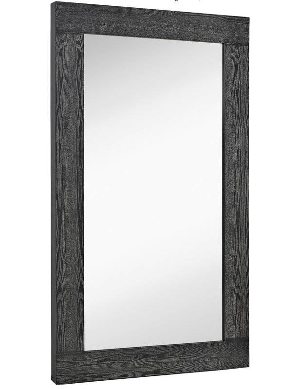 Majestic Mirror Oversized Modern Rectangular Black With White Wash Pertaining To Wood Wall Mirrors (#8 of 15)