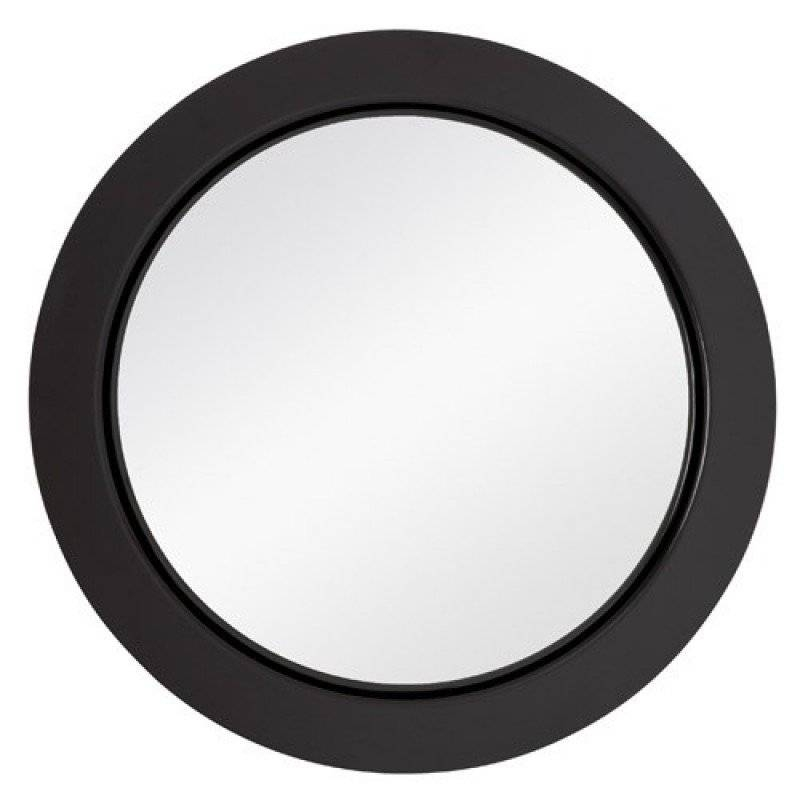 Majestic Mirrors Simple Round Wall Mirror Black Cm 2100 P For Black Round Wall Mirrors (#13 of 15)
