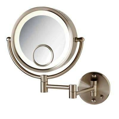 Makeup Mirrors – Bathroom Mirrors – The Home Depot With Regard To Magnifying Wall Mirrors For Bathroom (View 12 of 15)