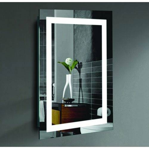 Malisa 24 X 36 Inch Led Lighted Wall Mirrorcivis Usa Creators Intended For Wall Mirrors 24 X (View 9 of 15)