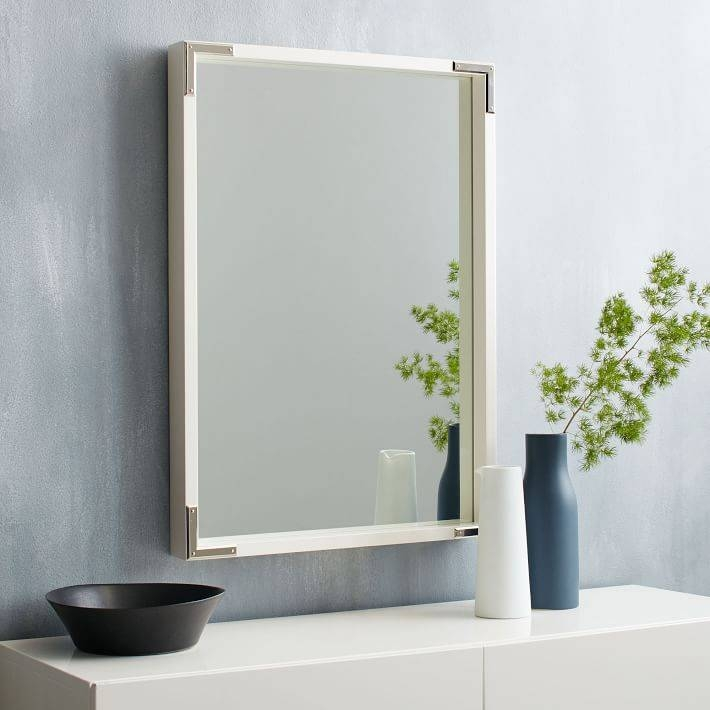 Malone Campaign Wall Mirror – White Lacquer | West Elm With Regard To White Decorative Wall Mirrors (#11 of 15)