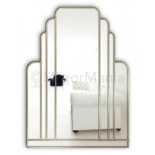 Manhattan Original Handcrafted Art Deco Wall Mirror In Deco Wall Mirrors (#9 of 15)