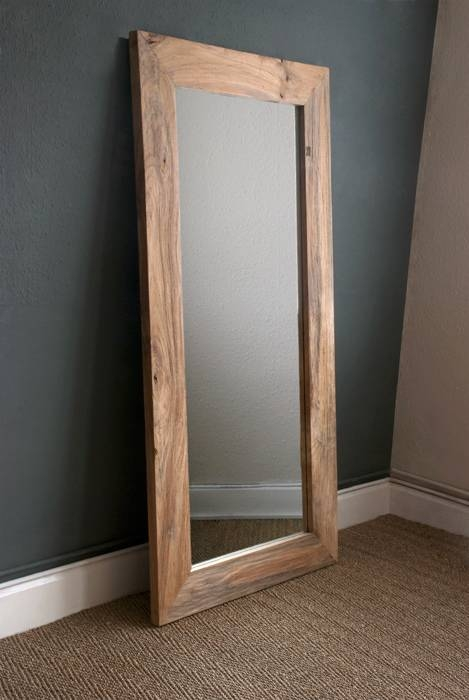 Popular Photo of Large Wood Framed Wall Mirrors