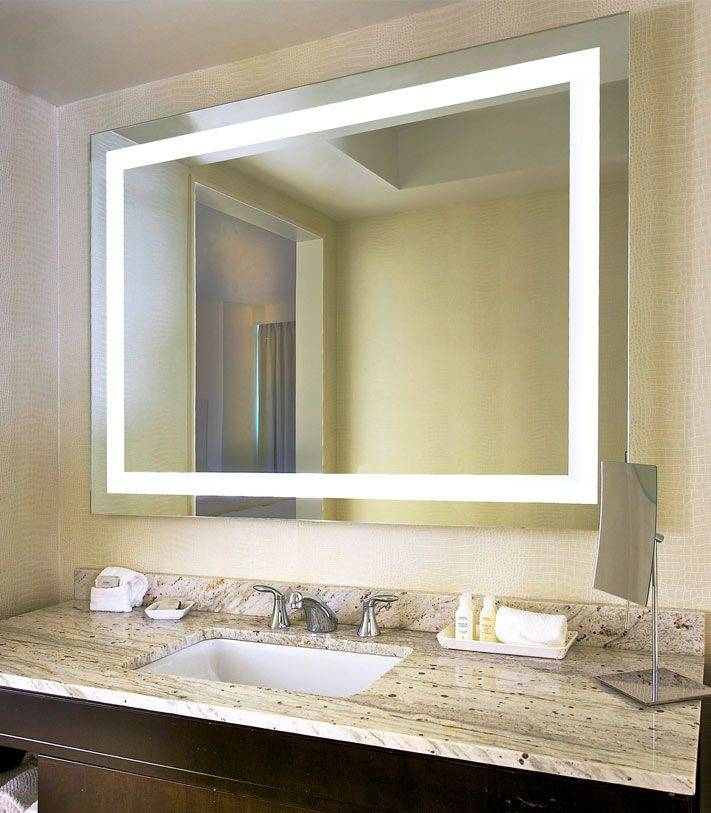 Marvellous Led Lighted Mirrors Bathrooms 64 On Online With Led Within Lighted Wall Mirrors For Bathrooms (View 4 of 15)