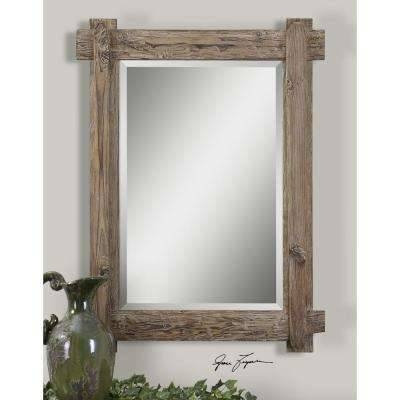 Medium Brown Wood – Decorative – Mirrors – Wall Decor – The Home Depot Throughout Wood Framed Wall Mirrors (#9 of 15)