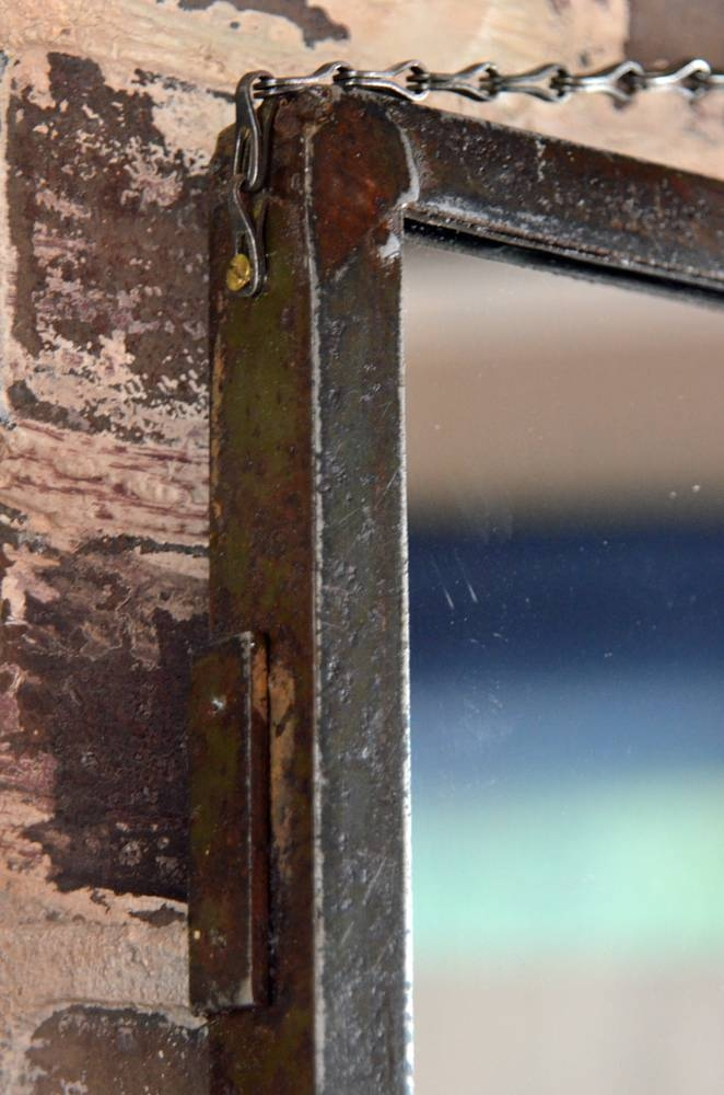 Metal Frame Wall Mirror Within Industrial Wall Mirrors (View 14 of 15)