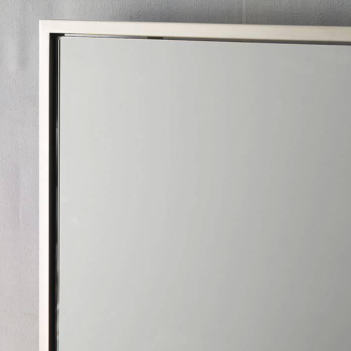 Metal Framed Landscape Mirror | West Elm Inside Black Frame Wall Mirrors (#13 of 15)
