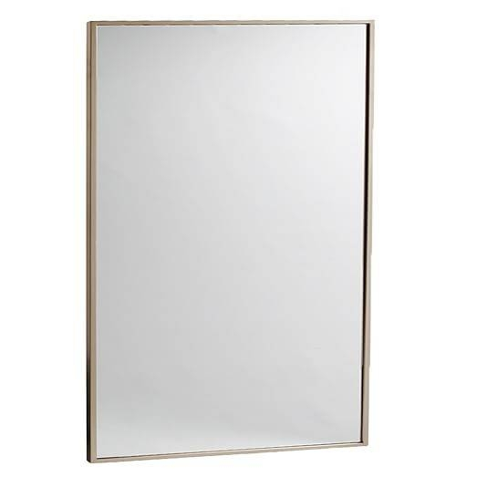 Metal Framed Wall Mirror | West Elm For Metal Wall Mirrors (View 8 of 15)