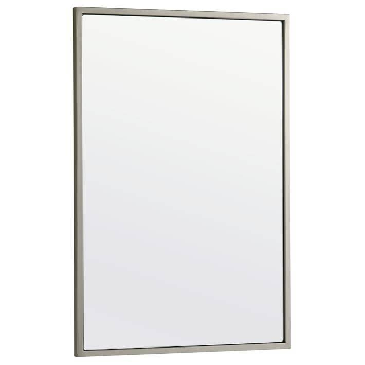 Metal Framed Wall Mirror | West Elm Intended For White Framed Wall Mirrors (View 10 of 15)