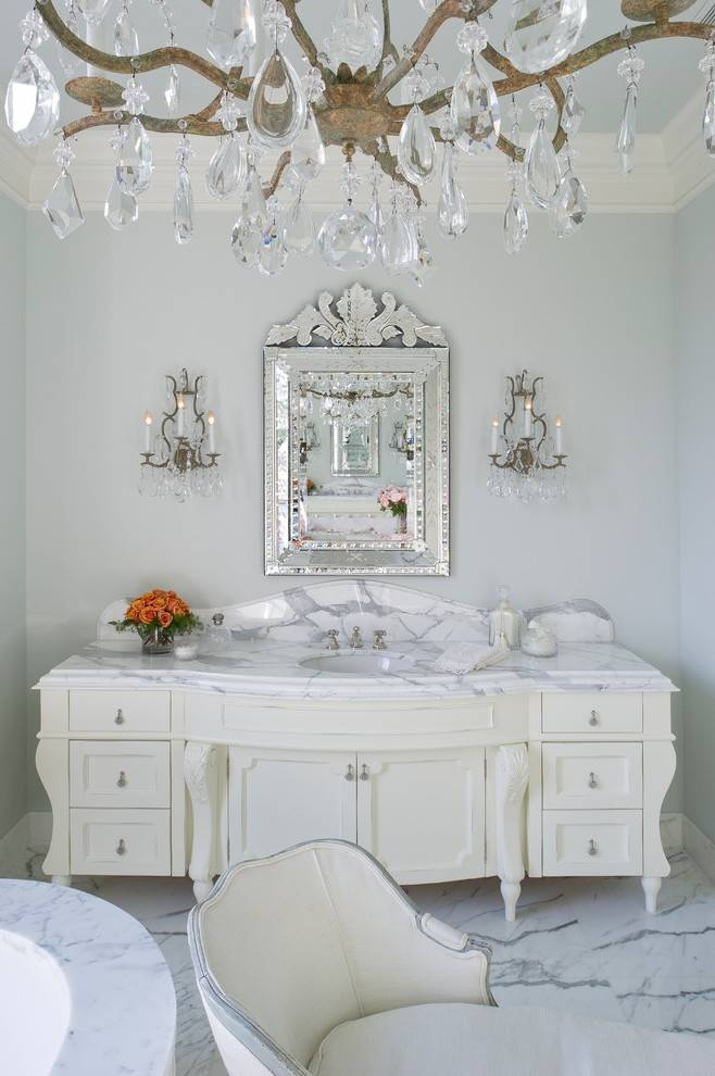 Miami High End Bathroom Traditional With Mirrored Framed Mirror Pertaining To High End Wall Mirrors (View 4 of 15)
