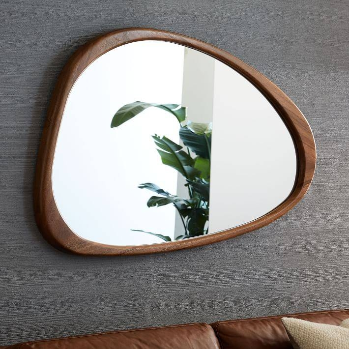 Mid Century Asymmetrical Wall Mirror | West Elm Throughout West Elm Wall Mirrors (#12 of 15)