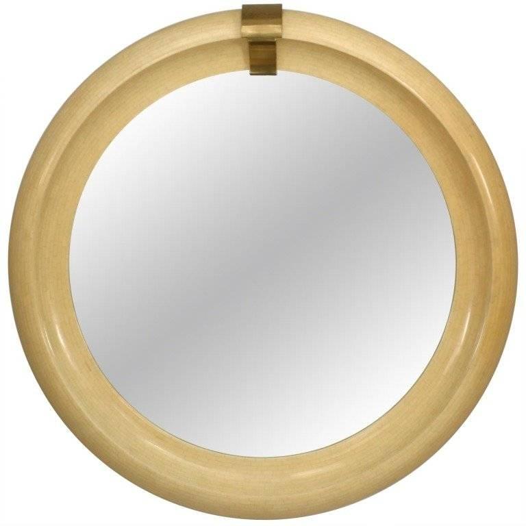 Mid Century Modern Round Wall Mirror At 1Stdibs With Modern Round Wall Mirrors (#10 of 15)
