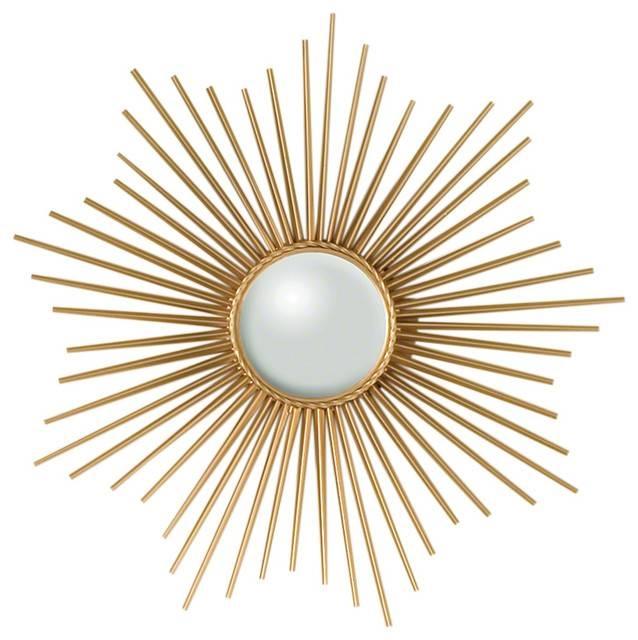 Mini Sunburst Mirror, Gold – Midcentury – Wall Mirrors Global In Sunburst Wall Mirrors (View 12 of 15)