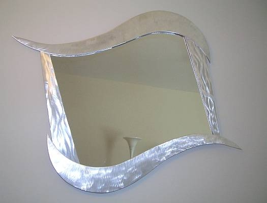 Mirror And Contemporary Mirrors Throughout Abstract Wall Mirrors (View 6 of 15)
