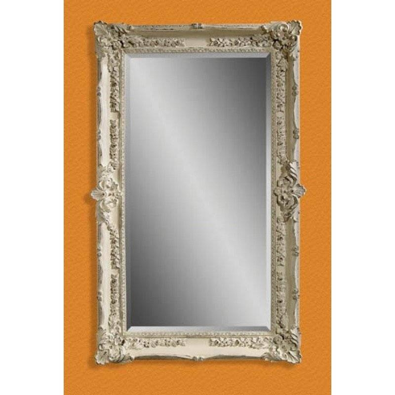 Mirror Company Antique White Victorian Wall Mirror Bm M2935B Regarding Victorian Wall Mirrors (View 10 of 15)