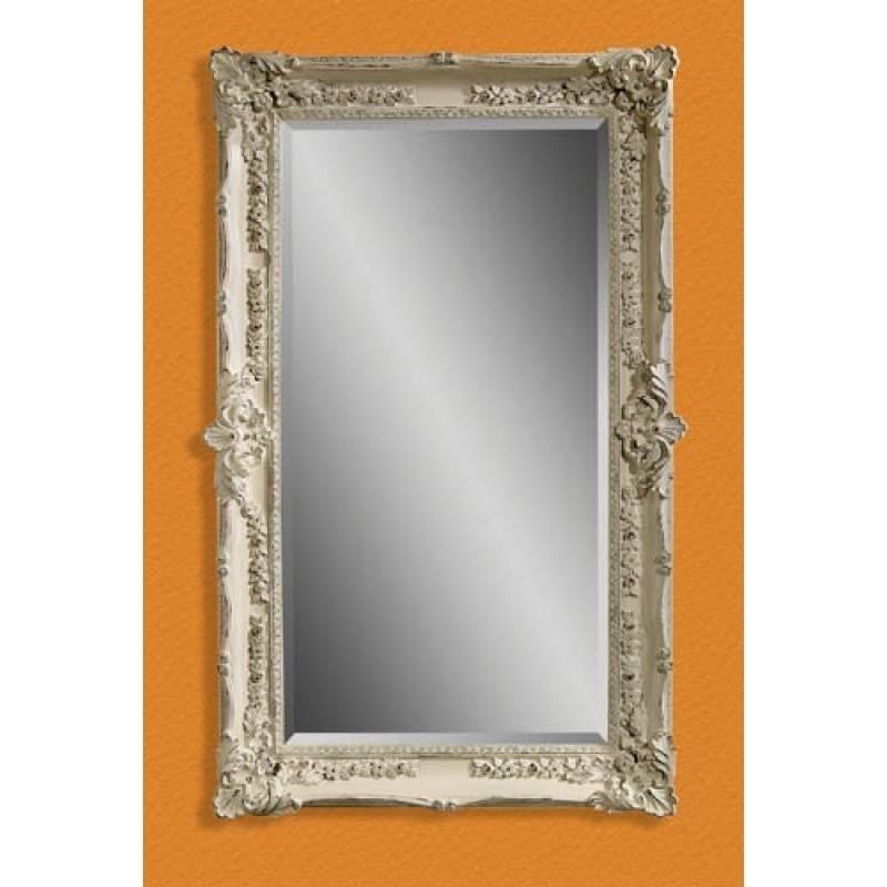 Mirror Company Antique White Victorian Wall Mirror Bm M2935B Within Bassett Wall Mirrors (#10 of 15)