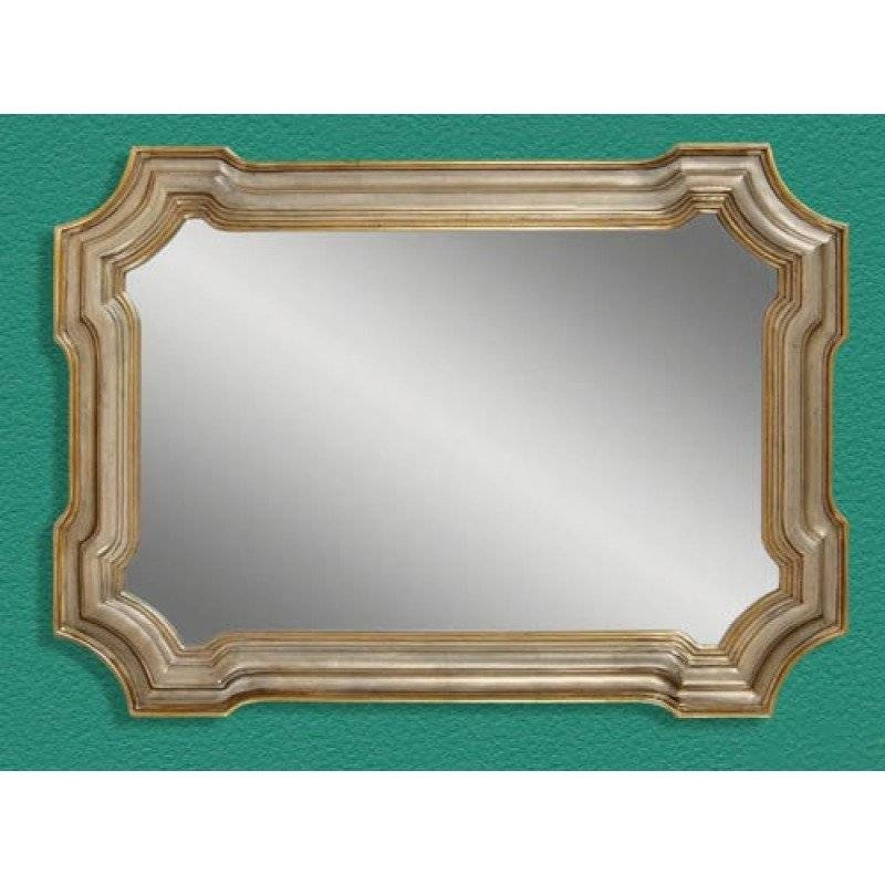 Mirror Company Gold Silver Leaf Shaped Rectangle Wall Mirror Bm M2804 Intended For Bassett Wall Mirrors (#11 of 15)