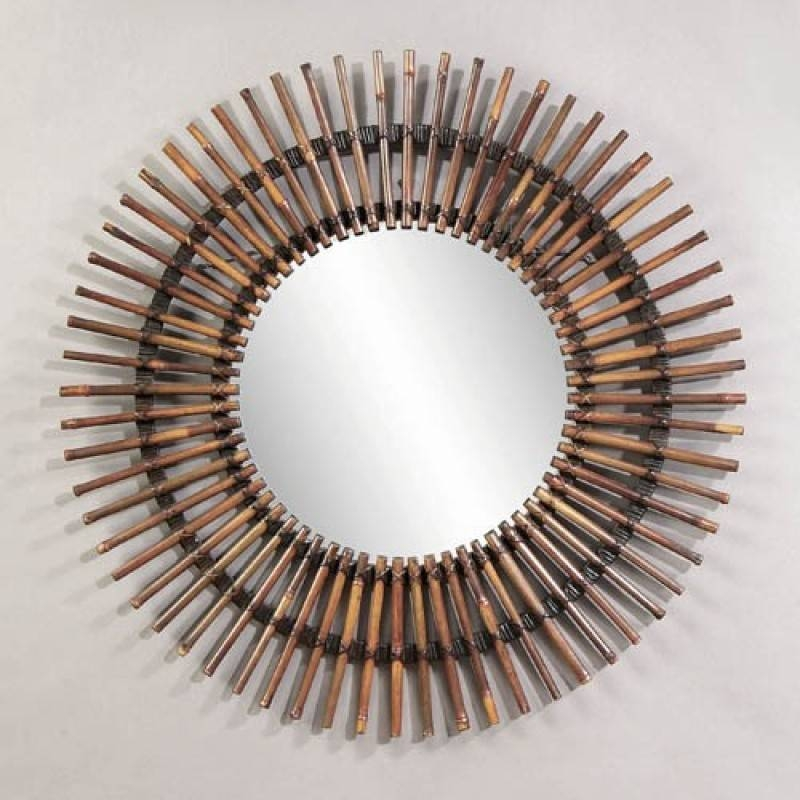 Mirror Company Round Bamboo Wall Mirror Bm M2752 With Regard To Bamboo Wall Mirrors (#11 of 15)