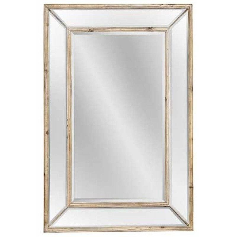 Mirror Company Weathered Pine Rectangle Wall Mirror Bm M3337B Intended For Bassett Wall Mirrors (#12 of 15)