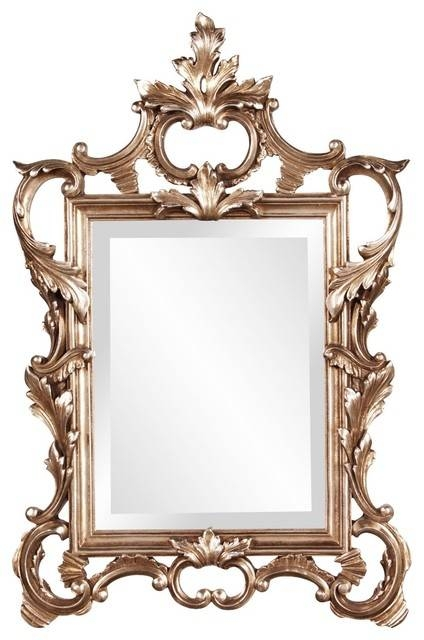 Mirror In Antique Champagne Finish – Traditional – Wall Mirrors In Traditional Wall Mirrors (#14 of 15)