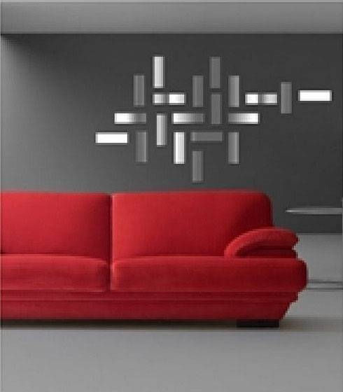 Mirror Sticker, Wall Decor Ideas For Spacious Room Design Within Wall Mirror Stickers (#7 of 15)