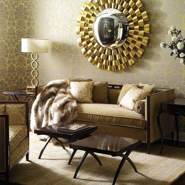Mirror Wall Decoration Ideas Living Room Glamorous Decor Ideas Pertaining To Unique Wall Mirror Decors (View 9 of 15)