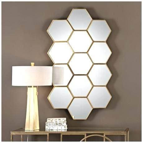 Mirrored Geometric Wall Decor Large Geometric Wall Mirror Regarding Geometric Wall Mirrors (#8 of 15)