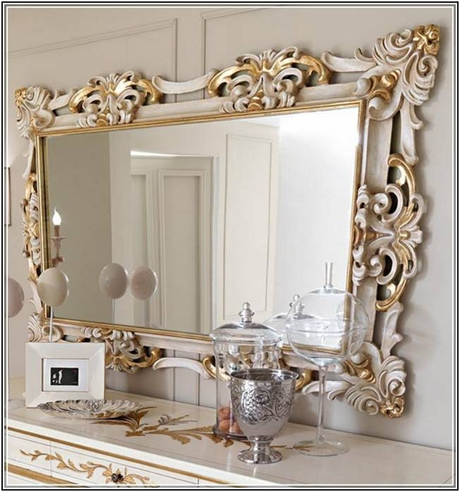 Popular Photo of Large Elegant Wall Mirrors